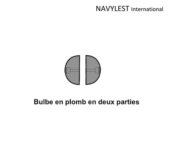 bulbe en plomb en deux parties navylest fonderie de plomb. Black Bedroom Furniture Sets. Home Design Ideas
